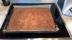 Nussecken gebacken