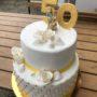 Goldene-Hochzeits-Torte